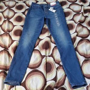 Women Express ankle legging high rise Jeans Sz 00R
